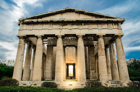 The temple of Hephaestus in Agora, Athens, Greece