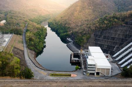 A hydro power station near dam in Kanchanaburi, Thailand