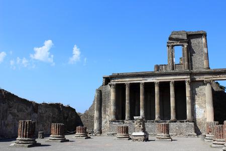 Forum in Pompeii Stock Photo