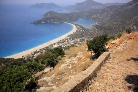 oludeniz: Oludeniz viewed from the Lycian Way high in the mountains from the footpath