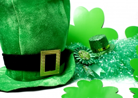 An image showing the concept of St Patricks Day with a green hat Stock Photo - 13662562