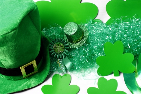 An image showing the concept of St Patricks Day with a green hat photo