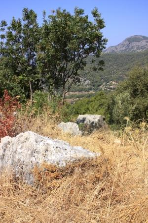 oludeniz: A view of the mountains near Oludeniz in Turkey