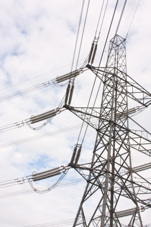 A close up view of an Electric Pylon with main connectors visisble