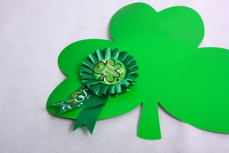 An image showing the concept of St Patricks Day with a hat and clover shapes Stock Photo - 17541325