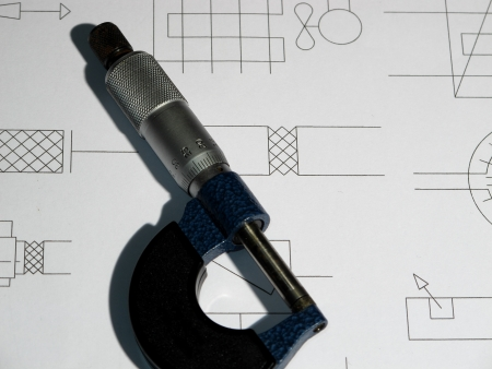 An image showing a precision measuring tool Stock Photo