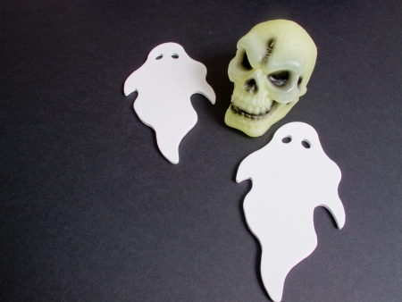 An image showing the concept of Halloween with some scary characters Stock Photo