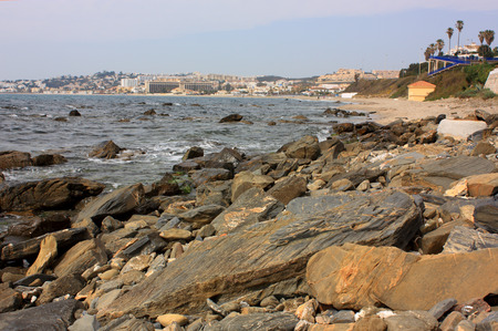A rocky beach near to La Cala De Mijas photo