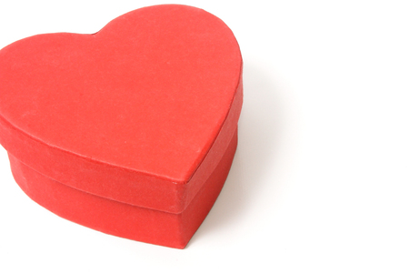 A heart shaped gift box for Valentines day