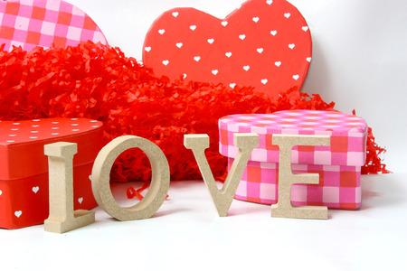 バレンタインの日に愛の概念 写真素材