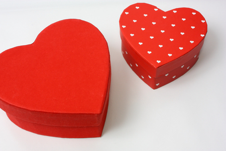 Heart shaped gift boxes for Valentines day