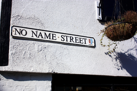 no name: Street sign for the Street with no name Stock Photo