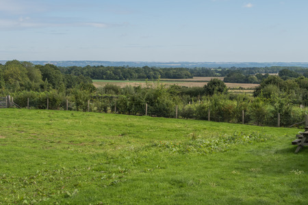 weald: View of the countryside across the fields around Sissinghurst