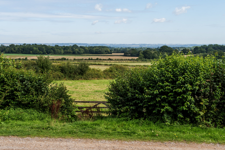 kent: View of the countryside across the fields around Sissinghurst on a sunny Morning