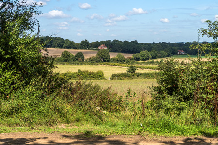 kent: The beautiful countryside and fields around Sissinghurst