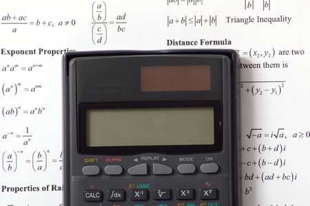 algebra calculator: An image showing the concept of learning and education with a calculator