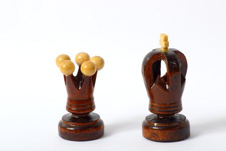 tablero de ajedrez: Rey reina del tablero de ajedrez