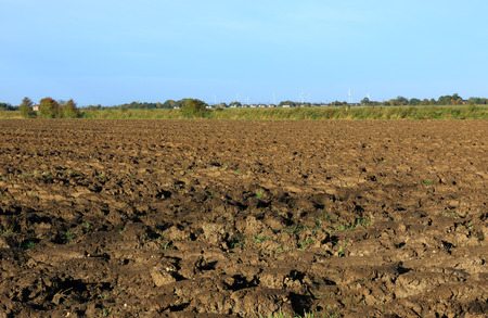 recently: A recently ploughed field in Maplethorpe, Linolnshire