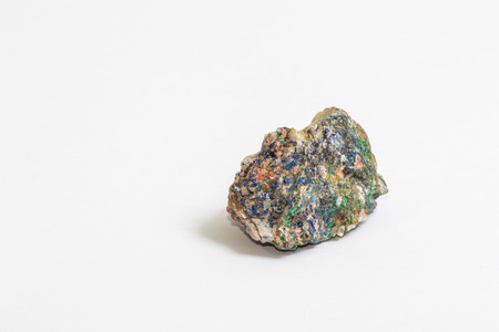 a small piece of Azurite, a blue copper mineral Stock Photo