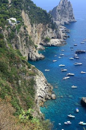 Rocky coastline of Capri