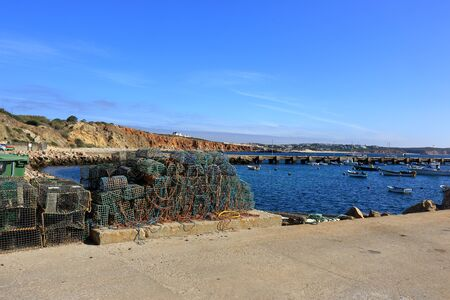 Port at Rosso Do Veiga in Sagres Stock Photo