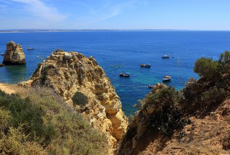 The cliffs of the Ponta da Piedade headland in Lagos Stock Photo