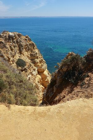 The cliffs of the Ponta da Piedade in Lagos overlooking the Atlantic Ocean