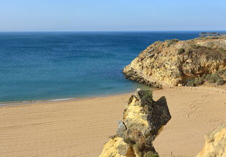 Praia Do Peneco in Albufeira Stock Photo