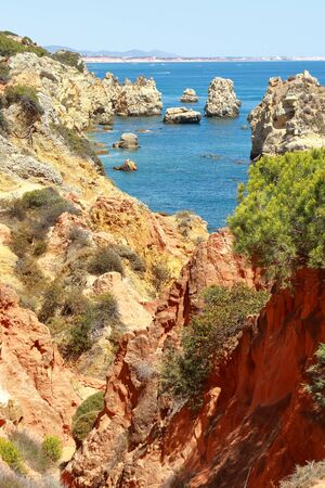 The Praia De Arrifao beach near Albufeira in the Algarve