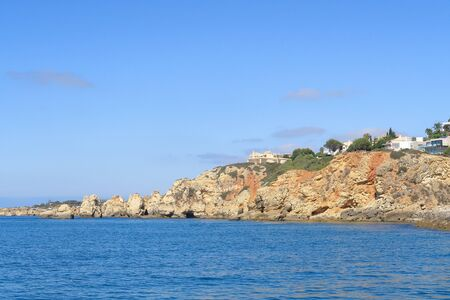 Rocky coastline at Albufeira in the Algarve region