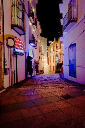 nerja: Nerja Noche  Foto de archivo