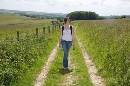 finding your way: Woman On Country Walk