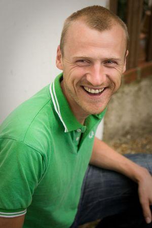 un hombre riendo, Foto de archivo - 5831245