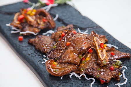costilla: Sofocante carne