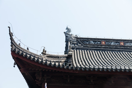 chinese dialect: Ancient building eaves, cornices Stock Photo