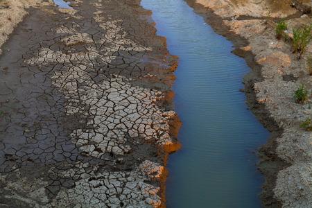 sequias: Lago cama secando debido a la sequ�a  Foto de archivo