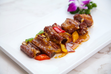 Pork ribs with honey photo