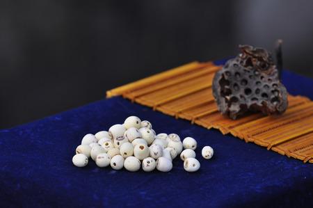 compendium: Lotus seeds Stock Photo