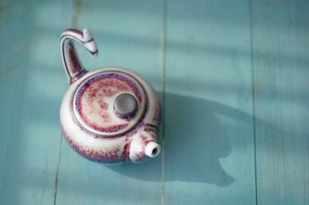 fishtail: Fishtail glaze teapot Stock Photo