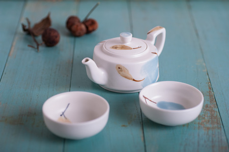 tea set: Flying ceramic tea set
