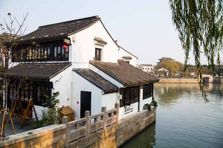 street corner: Suzhou shantang street corner
