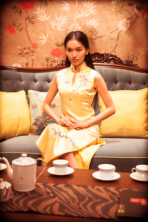 dignified: Cheongsam dignified Lady Editorial