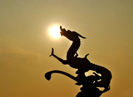 magnificent mile: Dragon sculpture