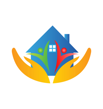 House family and hands logo.