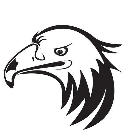 Eagle head silhouette icon logo