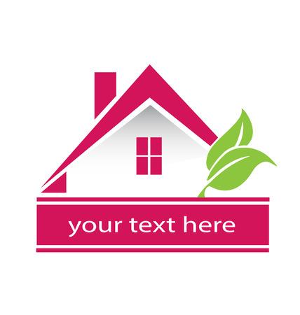 Modern Real estate houses logo Illustration