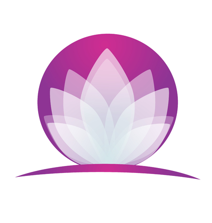 Lotus flower logo application Illustration