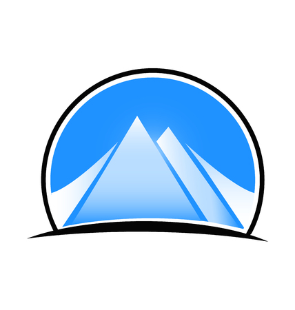 wilderness area: Blue landscape and mountains logo