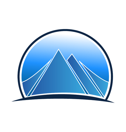 skys: Blue landscape and mountains logo
