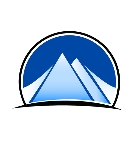 Landscape and mountains logo vector 일러스트